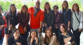 Visite des étudiants singapouriens à l'Atelier